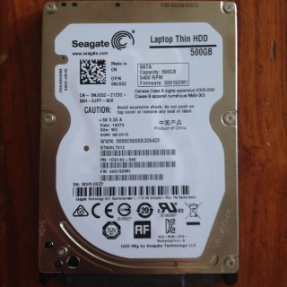 HDD Laptop Seagate 500 Thin 5400RPM
