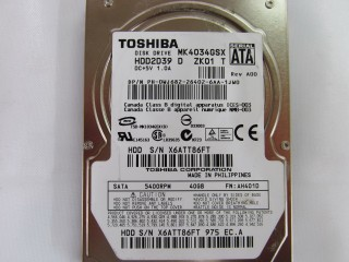 HDD Laptop Toshiba 40GB